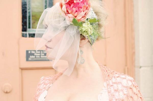 Pink-Vintage-Headpiece