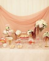 glittery pink gold bridal shower ideas
