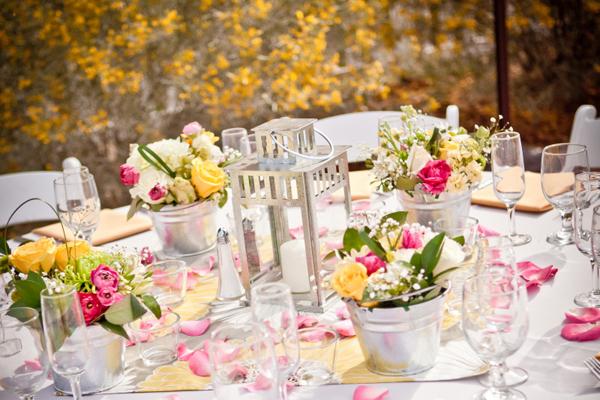 Pink-Yellow-Wedding-Centerpiece