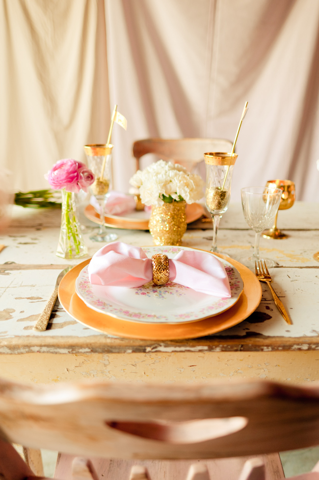 Pink And Gold Glitter Wedding Ideas