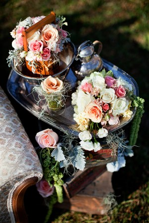 Pink-and-Silver-Vintage-Centerpiece