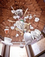 Plate-and-Spoon-Chandelier
