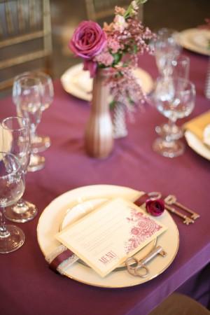 Purple-Gold-Wedding-Centerpiece