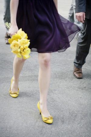 Purple-and-Yellow-Bridesmaid-Dress