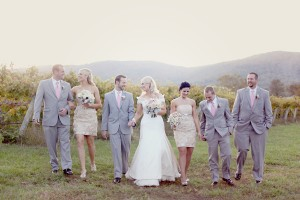Silver-and-Pink-Wedding-Party