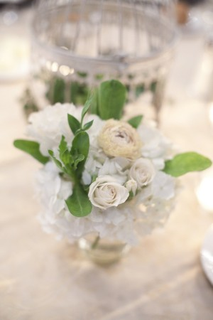White-Rose-Hydrangea-Centerpiece