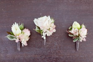 White-and-Silver-Corsages