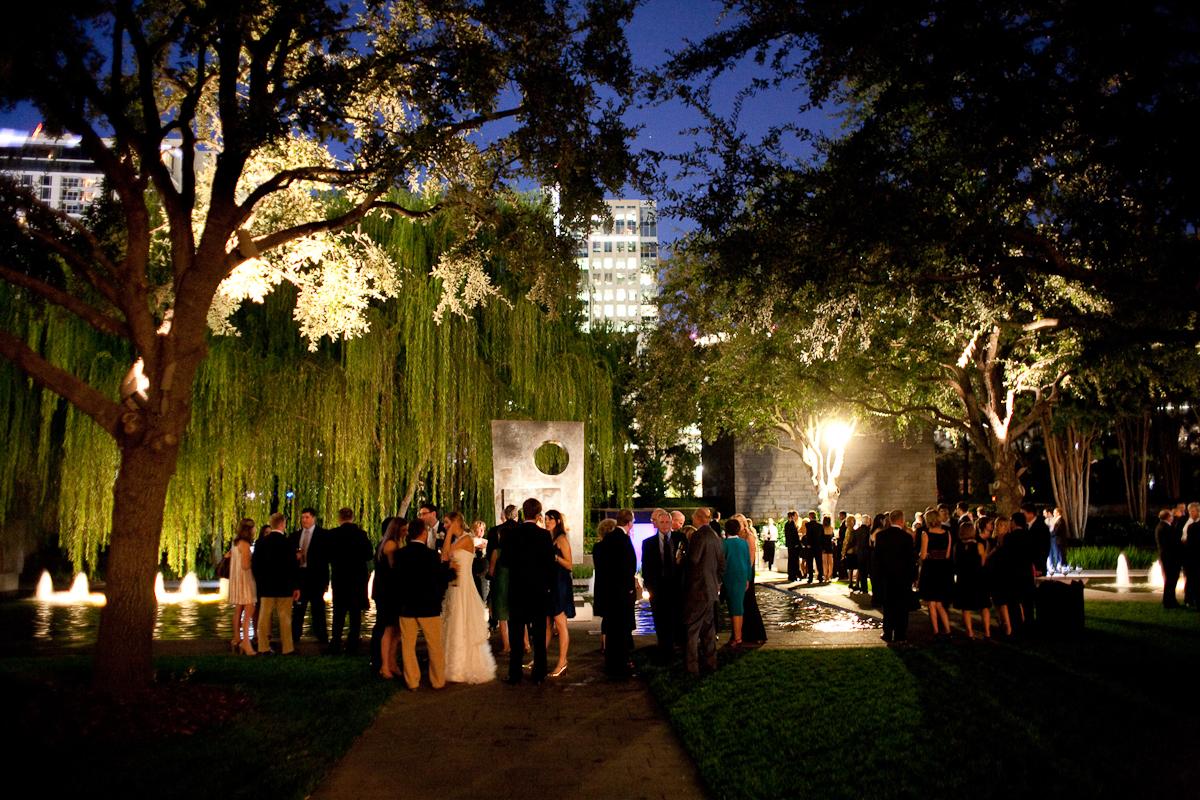 dallas wedding reception nasher sculpture center