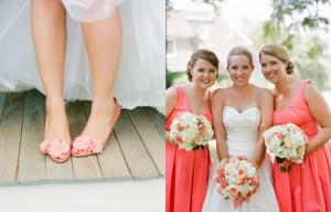 Peach-Pink-Wedding-Shoes-Bridesmaids