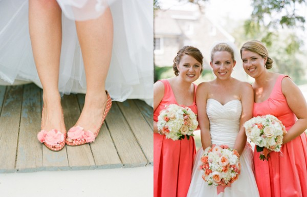 Peach-Pink-Wedding-Shoes-Bridesmaids