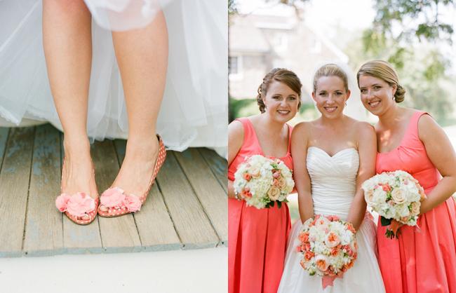 Peach Pink Wedding Shoes Bridesmaids