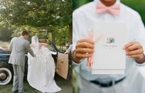 Peach-Wedding-Program