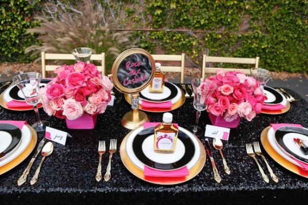 Pink-Black-Glitter-Punk-Wedding-Ideas