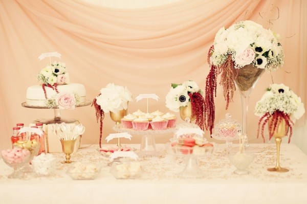Pink-Dessert-Display-Wedding