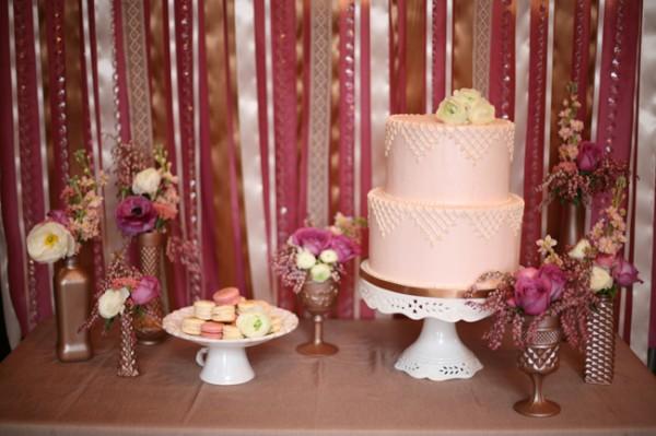 Purple-Gold-Wedding-Dessert-Table
