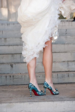 Teal-Christian-Louboutin-Bride-Shoes