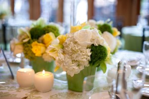 White-Centerpiece-Green-Vase