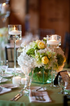 Yellow-White-Hydrangea-Rose-Orchid-Centerpiece