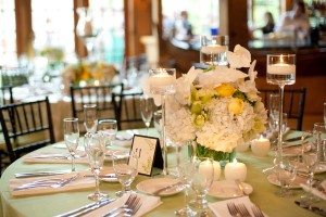 Yellow-and-Spring-Green-Wedding-Table