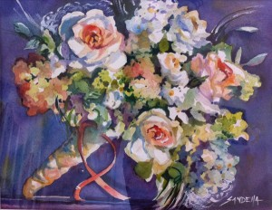 watercolor-wedding-bouquet