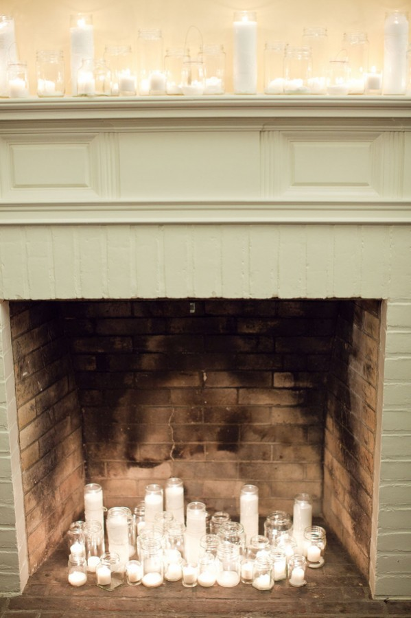 Candles In Fireplace Ideas candles-in-fireplace - elizabeth anne designs: the wedding blog