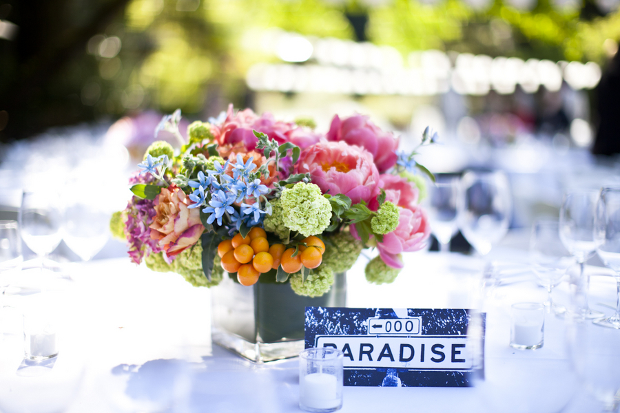 Colorful-Pink-Blue-Orange-Green-Centerpiece