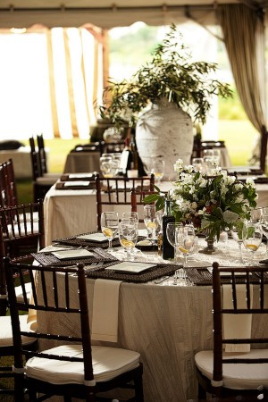 Elegant-Brown-White-Green-Tented-Wedding-Reception
