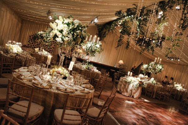 elegant wedding table decorations ivory and gold at home wedding 3870
