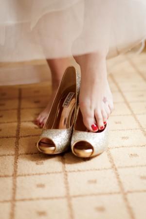 Gold Badgley Mischka Heels