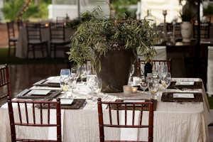 Herb-Centerpiece-Green-Brown-White-Reception