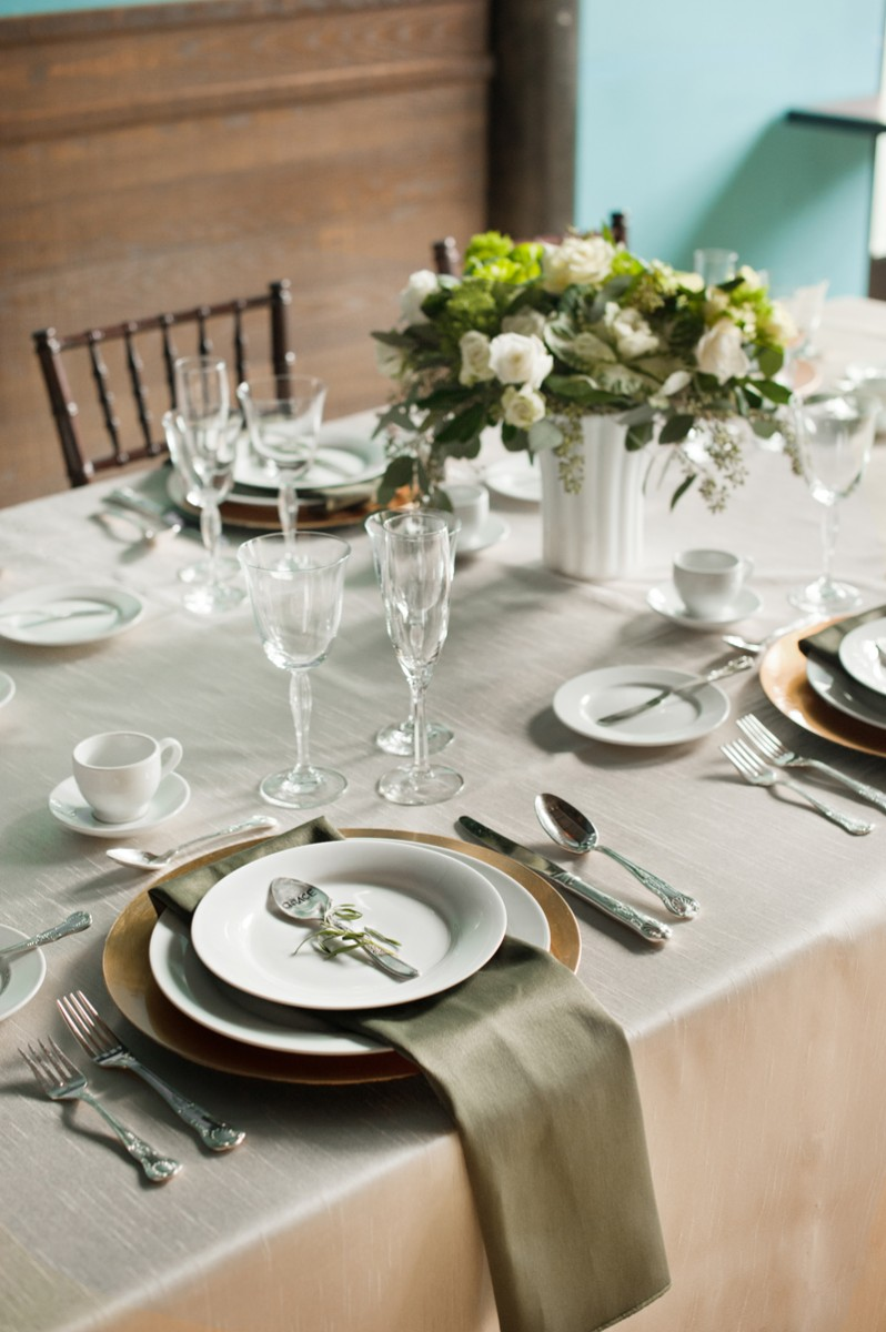 Ivory-and-Olive-Green-Wedding-Reception - Elizabeth Anne ...