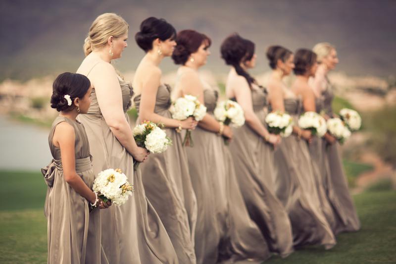 Jim Hjelm Stone Bridesmaids Dresses