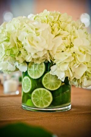Lime-Hydrangea-Centerpiece
