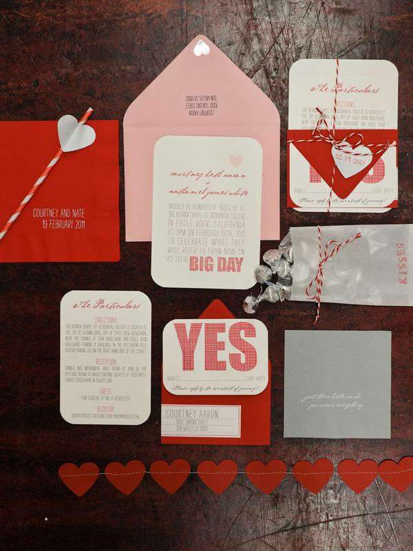 Pink-Red-Wedding-Invitations - Elizabeth Anne Designs: The Wedding ...