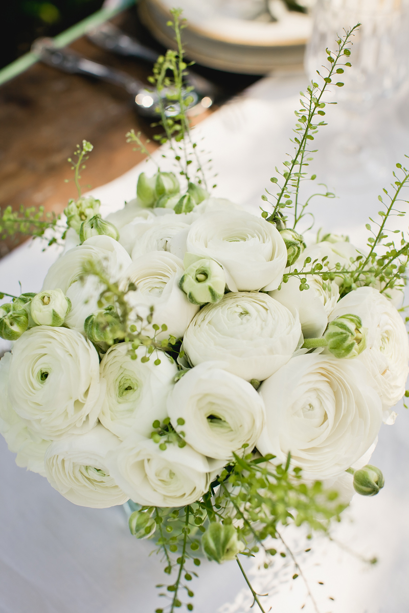 White Ranunculus Centerpiece Elizabeth Anne Designs The