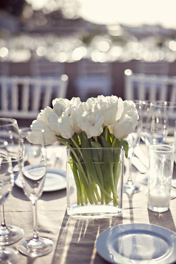 White Tulip Centerpiece Elizabeth Anne Designs The Wedding Blog