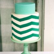 chevron-wedding-cake
