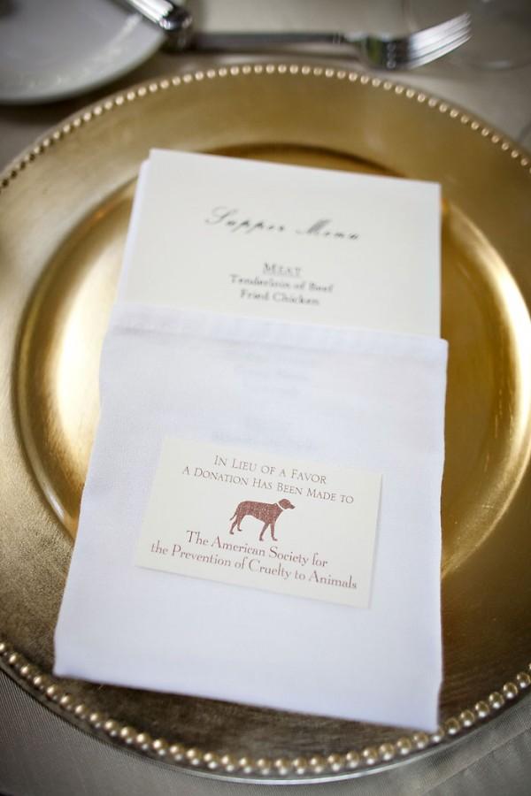 Donation Wedding Favor Elizabeth Anne Designs The Wedding Blog