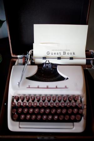 guestbook-typewriter
