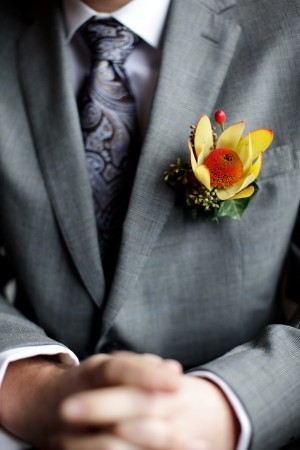 yellow-red-boutonniere