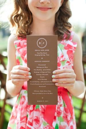 Brown-and-White-Wedding-Program