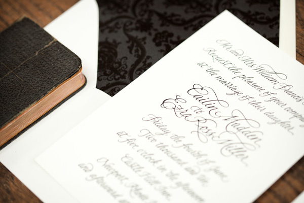 designs calligraphy wedding stationery chicago
