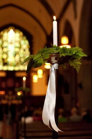 Fern-Church-Pew-Wedding-Decor