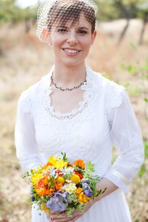 Orange-and-Blue-Wildflower-Bouquet-1