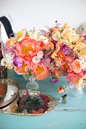 Peach-Coral-Pink-Yellow-Wedding-Flowers