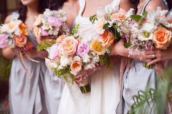 Peach-and-Purple-Bouquets
