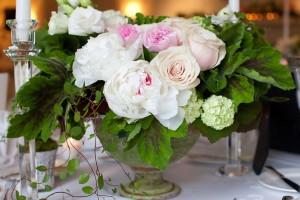 Peony-Pink-Rose-Hydrangea-Rustic-Centerpiece