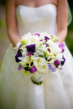 Purple-White-Peony-Orchid-Bouquet