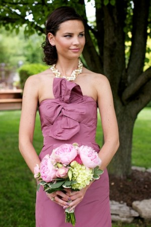 Rose-Pink-Bridesmaids-Dress