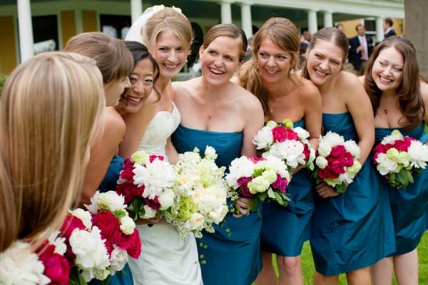 Teal-Bridesmaids-Dresses